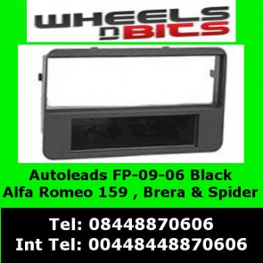 FP-09-06 Alfa Romeo Spider 2006 onwards Black FACIA ADAPTOR PANEL SURROUND TRIM
