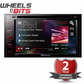 "Pioneer AVH-190DVD 6.2"" Screen CD DVD Radio USB, Aux-in iPod Double Din Stereo"