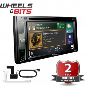 "Pioneer AVH-X490DAB & DAB+ Aeiral 6.2"" Screen 2 Din Bluetooth DVD iPhone Android"