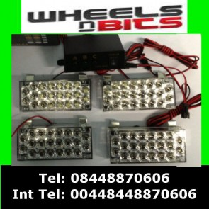 4x22 88 White LED Warning light Stobe Flashing For Renault Peugeot Citreon Van