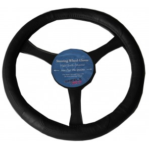 Subaru BRZ Impreza 37-39cm Universal Steering Wheel Glove Cover Black KA1307