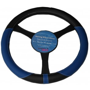 37-39cm Universal Steering Wheel Glove Cover BLUE fits Mitsubishi Lancer L200