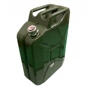 Wheels N Bits 20 Litre Green Metal Jerry Can Military Nato Original Screw Cap Petrol Diesel