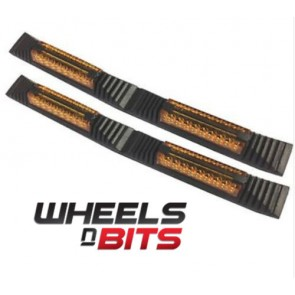 Wheels N Bits Suzuki Swift Twin 2x Door Edge Guard Strip Protectors With Amber Reflectors