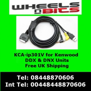 Wheels N Bits KCA-IP301V iPod iPhone Adaptor Interface For Kenwood DDX8024bt DDX8026bt