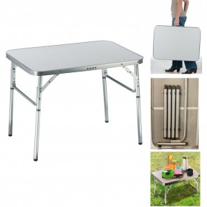 Wheels N Bits 2.5ft Aluminium Portable Adjustable Folding Table Camping Outdoor Picnic Party