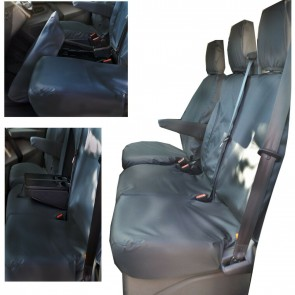 Wheels N Bits Ford Transit Factory 100% Fit Van Seat Cover 2014 Onwards Leather Leatherette