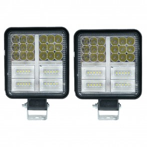 2x Wheels N Bits 54 Led Stobe DRL & Continuous Light 12 - 80 Volt 162 Watt 4 Inch Thin