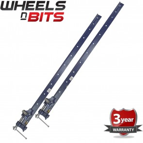 Wheels N Bits 2x Clamp T Bar 5 Foot (1500mm) Heavy Duty Cast Iron Wood Or Metal Workshop