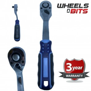 "Wheels N Bits 1/4"" Drive Ratchet Handle Socket Wrench High Quality 90T Fine Tooth"