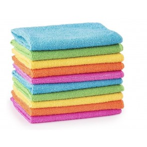 Wheels N Bits 10 Pack Micro Fibre Cleaning Drying Cloths Polishes Windows Dash Paint work etc