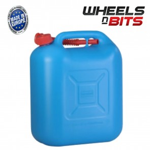 Wheels N Bits 20 Litre Blue Plastic Jerry Can Eu E10 Fuel Petrol Diesel 2 Stroke Ethanol