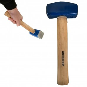 Wheels N Bits New 4lbs 1.8kg Lump hammer with Hickory wooden Handle Shaft Double Face Head