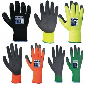 New PortWest Thermal Grip Gloves Latex Warm Winter Gloves Heavy Duty industrial