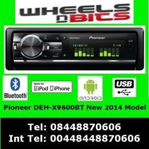 PIONEER CAR STEREO DEH-X9600BT SD CARD AUX 2X USB iPOD iPHONE BLUETOOTH MIXTRAX