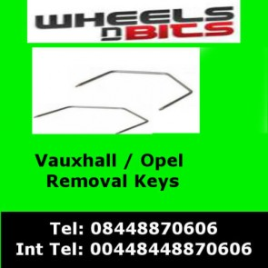 Wheels N Bits Ct22vx01 Vauxhall Opel Astra H 2004> Car Radio Stereo Release Removal Keys
