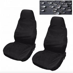 Car Van Seat Covers Waterproof Nylon Front Pair Protectors Black fits Fiat