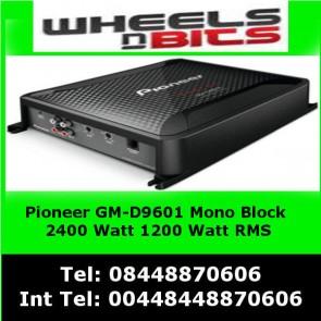 Pioneer GM-D9601 Mono block 2400Watt Class-D Car Amp, Subwoofer amp Amplifier