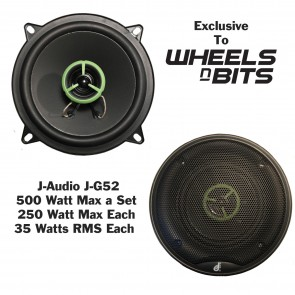 "J-Audio J-GT52 2x250 Watt 5.25"" Inch 2 way Car Rear Parcel Shelf DOOR Speaker"