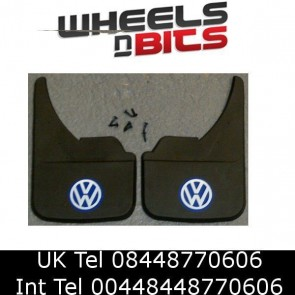 MUDFLAPS FOR VOLKSWAGEN MODELS UNIVERSAL MUD FLAP GOLF POLO PASSAT JETTA BLUE VW