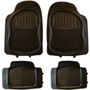 Wheels N Bits Jaguar X-Type S-Type XF XFR XJ Rubber PVC Car Mats Extra Heavy Duty 4pcs