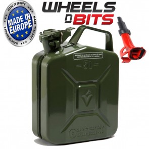 HIGH QUALITY METAL POWER COATED INSIDE AN OUT JERRY CAN 5L LITRE CAN WITH SPOUT