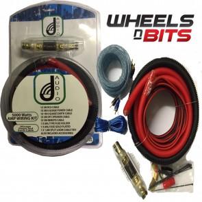 J-Audio Complete Amp Amplifier 0 Gauge Wiring Kit 5000 Watt Max Sub Or Speakers