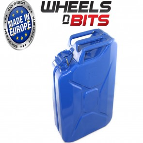 NEW HIGH QUALITY METAL POWER COATED INSIDE AN OUT BLUE  JERRY CAN 20L LITRE CAN