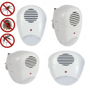 4 x  UK PLUG ULTRASONIC RODENT PEST FLY REPELLER MICE RAT REPELLENT LOW ENGERY