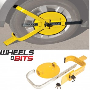 "NEW WHEELS N BITS  Car Caravan Van Trailer 13"" 14"" 15"" High Security Wheel Clamp"