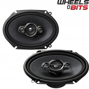 "Pioneer TS-A6880F 6"" x 8"" Custom Fit Car Audio Speakers 350W Ford Jaguar Mazda"