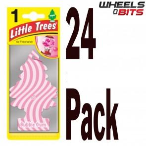 24x Magic Tree Little Trees  Bubble Gum Scent Fragrance Car Van Air Freshener