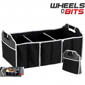 WNB 2-in-1 Heavy Duty Collapsible Car Boot Organiser Foldable Shopping Storage
