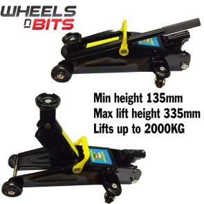 NEW Wheels N Bits 2000KG 2 Ton Tons Tonne Trolley Jack Floor Fully CE Approved