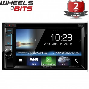 "Kenwood DDX8016DABS 6.2"" WVGA USB DVD Apple Car Play  Bluetooth DAB Radio Stereo"