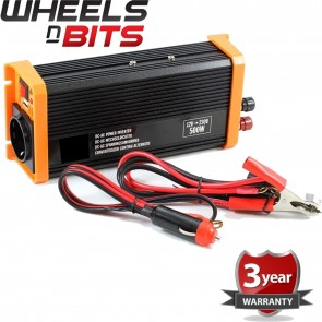 12 Volt Power Inverter DC AC & USB output 12V 230V 500W Continuous 1000 W Peak