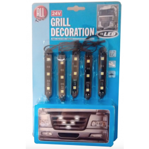 24V Grill Decoration Customisation LED White Light Truck Lorry Tractor Unit RIG