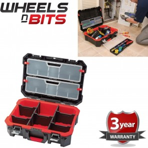 Heavy Duty Technicians Tool Box Case 2 Removeable Compartments Impact Resistant