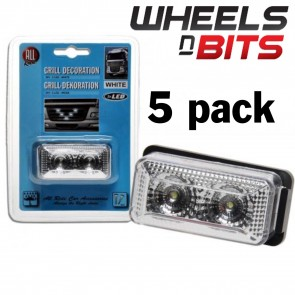 Wheels N Bits 5 PK White 6cm LED position Grill light 24 Volts Scania Volvo ERF HINO Mercedes
