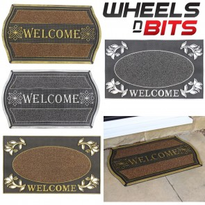 HOME PVC 45x75 Non Slip Welcome Floor Entrance Door Mats Indoor Outdoor Doormats