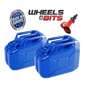 2x HIGH QUALITY METAL POWER COATED INSIDE AN OUT RED JERRY CAN 10L LITRE 1 SPOUT