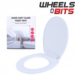 Standard Oval Soft Close Toilet Seat Universal Fitment Suit Most Toilets White