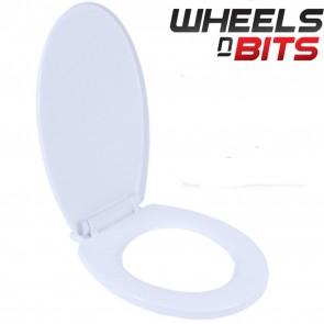 NEW Luxury White PVC Plastic Toilet Seat Elegant design Bottom Fixing Standard