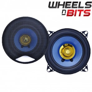 "J-Audio New Cheap Budget 200 Watt Pair 4"" Car Speakers Dual Cone Pair 100 Watt Each"