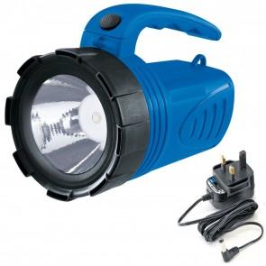 3 Watt LED Rechargeable Super light Weight 023 KG Walking Spot lamp Torch Hand