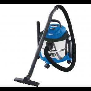 Draper Wet & Dry 15 Litre Hoover Vacuum Cleaner 230 V Stainless Steel Tank 1250W