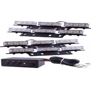 36 led White Led Flashing Strobe Recovery Escort Break Down Warning Lights 12V