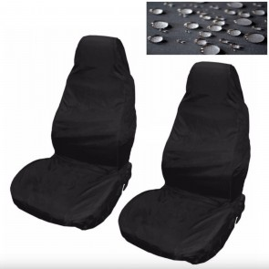 Wheels N Bits Volkswagen Golf Caddy Car Seat Cover Waterproof Nylon Front Pair Protector Black