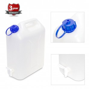 NEW 20 litre Plastic Garden Camping Caravan Water Carrier Fluid Jerry Can & tap