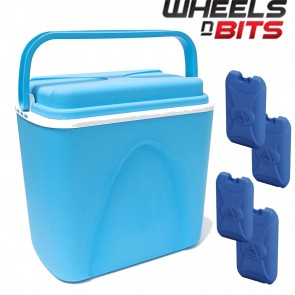 WNB® 24 Litre Insulated Ice Cooler Box Ideal For Camping Picnic Beach + 4PK ICER